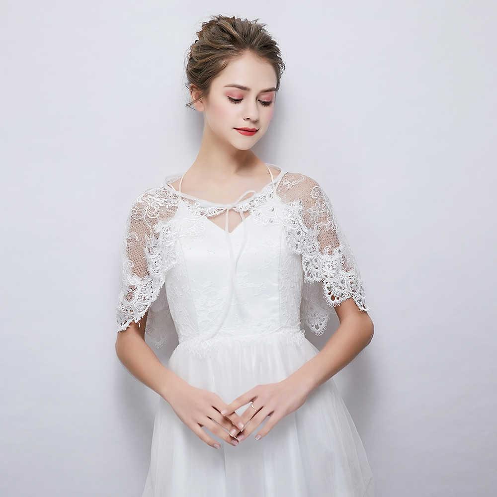 Wedding Dress Cover Up.White Sheer Lace Wrap Rhinestone Cover Up Stole For Wedding Bridal Shawl Handmade Lace Up Bolero Women Fashion Jacket