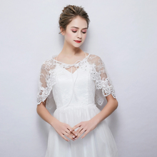 White Sheer Lace Wrap Rhinestone Cover Up Stole for Wedding 2a655e613