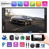 7Inch 2Din Android 7.1 Multimidia Player Touch Screen Car Stereo MP5 Player Bluetooth Wifi GPS Nav FM AM Radio with Map+Camera