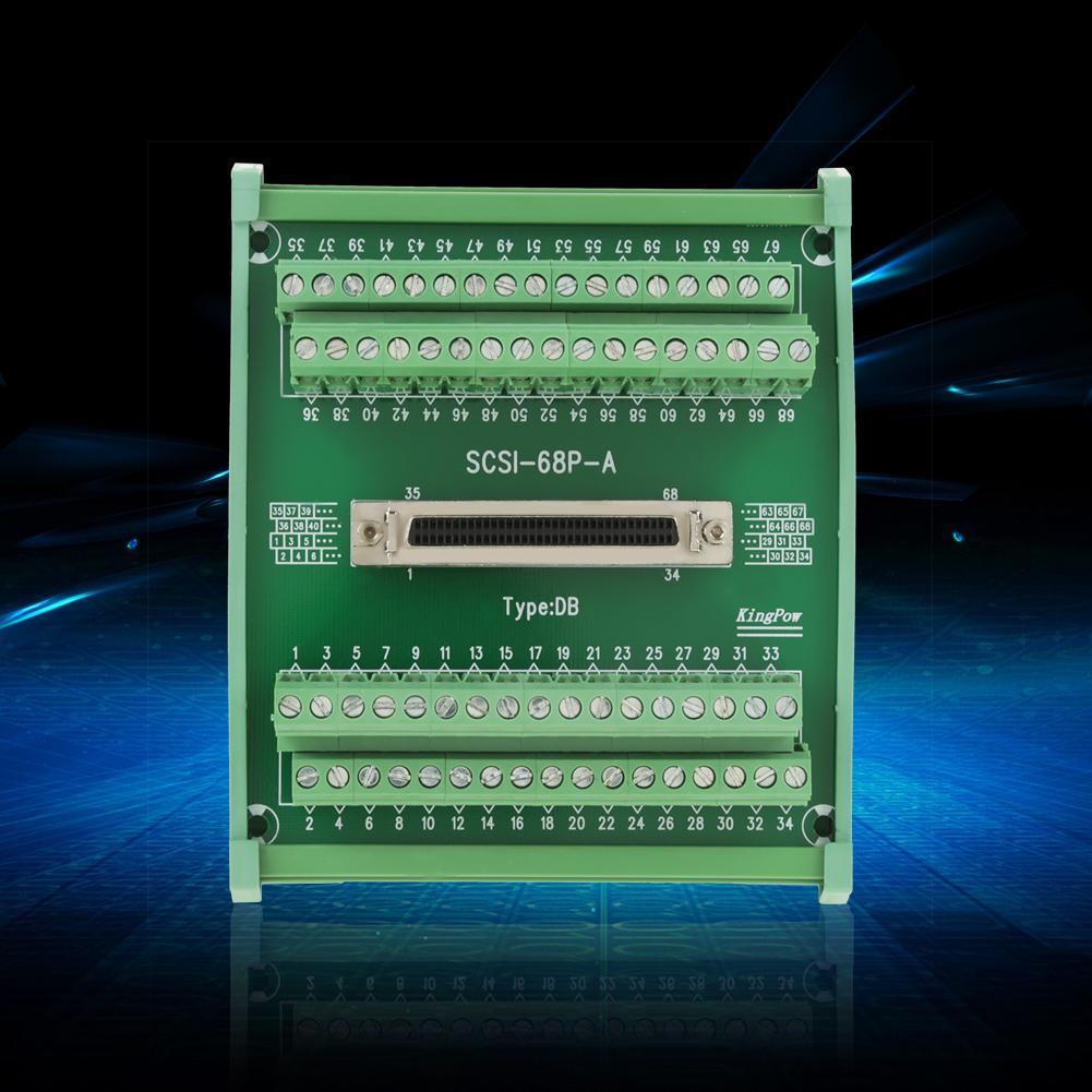 1 Pcs Terminal Module SCSI68 68 pin DB Type Female Connector Terminal Blocks Module Breakout Board Terminal Module