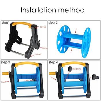 Portable Garden Water Hose Reel Cart Hose Reel Water Pipe Storage Rack Portable Shelf Bracket For Garden Farm 1