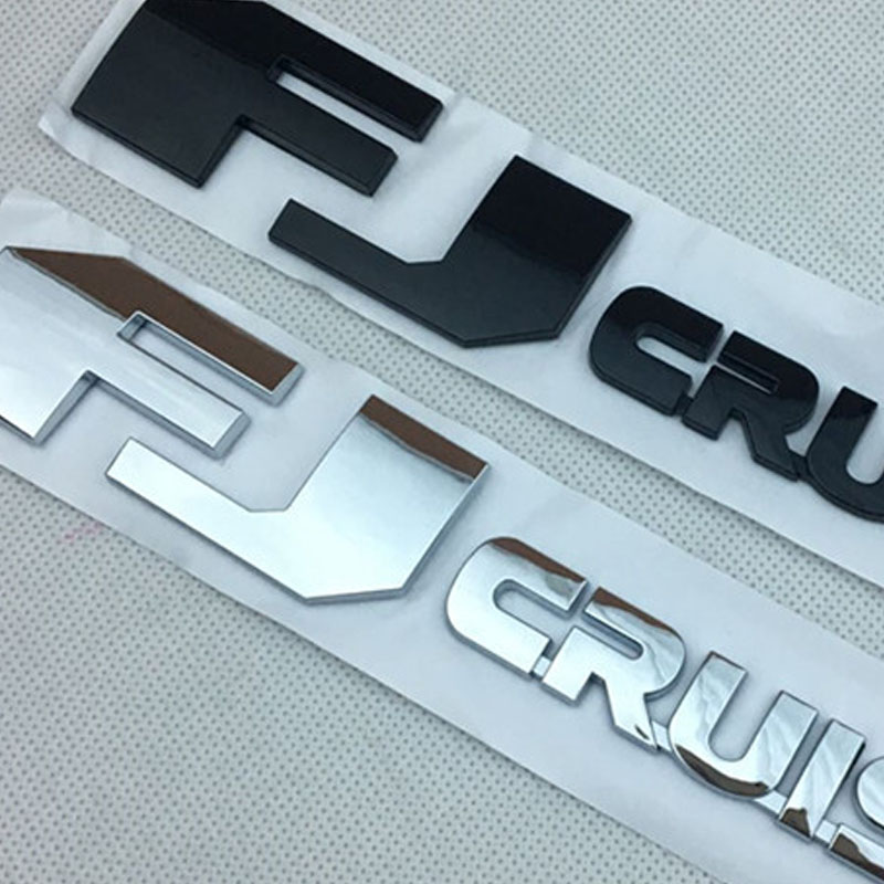 Toyota Land Cruiser Logo Name Chrome Black Front License Plate TRD Novelty Metal