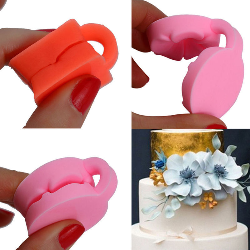 Cute 3D Rose Flower Fondant Cake Chocolate Sugarcraft Mold Cutter Silicone Tools
