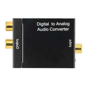 Image 2 - Neue Schwarz Digital Optical Koaxial Toslink Signal Zu Analog Audio Konverter Adapter RCA Digital Zu Analog Audio Konverter Adapter