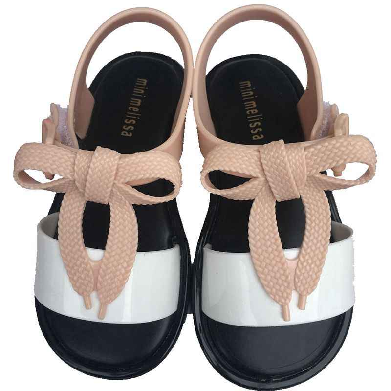 d53ba67a4 Girls Sandals Kids PVC Shoes Children Bowtie Gladiator Sandals Baby Shoes  2019 Summer Flat Princess Beach