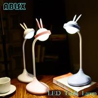 Animal Led Table Lamp For Children Rabbit Ear Beside Light Lamp Baby 3D Led Toys For Kids Cartoon Anime Rabbit NightLights Gift