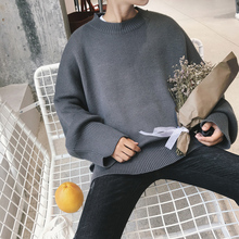 Winter Sweater Men New Casual Pullovers Round Neck Harajuku Loose Knitted Warm Brand Classic Solid clothes