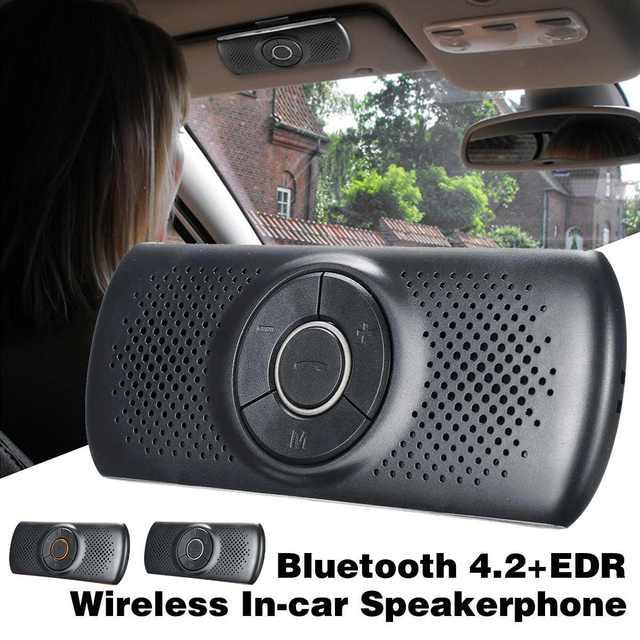 US $17 54 |Wireless bluetooth Car Kit Set Handsfree Speakerphone Multipoint  Sun Visor Speaker Phone Smartphones Support Google Assistant-in Bluetooth