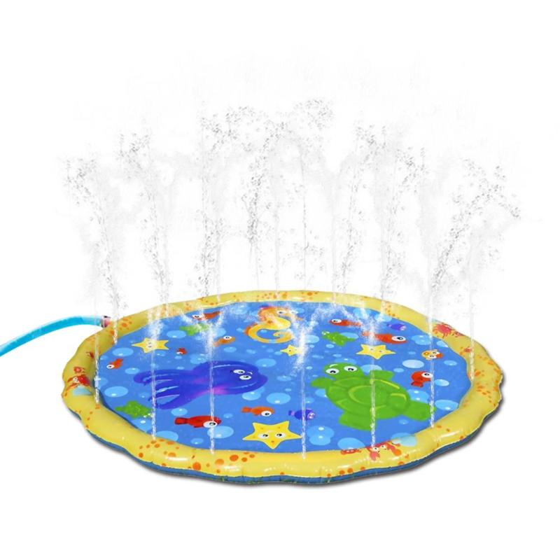 1m PVC Water Spray Pad Inflatable Water Sprinkling Mat Beach Thicken Beach Sand Toys Funny Outdoors Toys Water Play Games Kid
