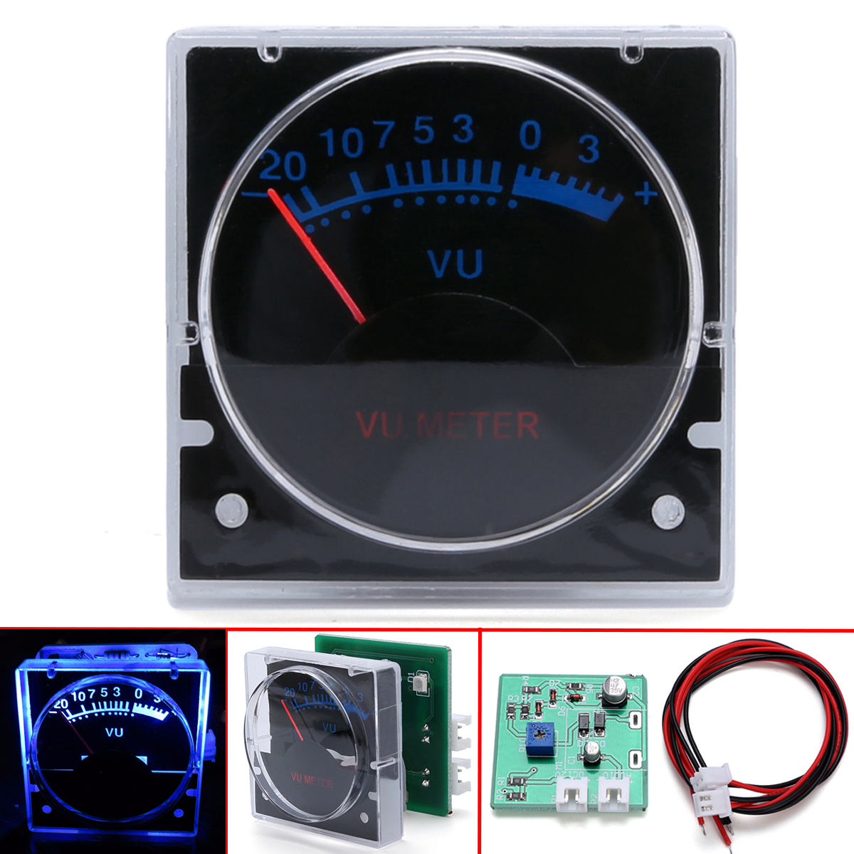 6 12V VU Meter Analog Panel Audio Level Meter Blue Backlight SMT technology process No Need Driver for 10 80W Power Amplifier Current Meters     - title=