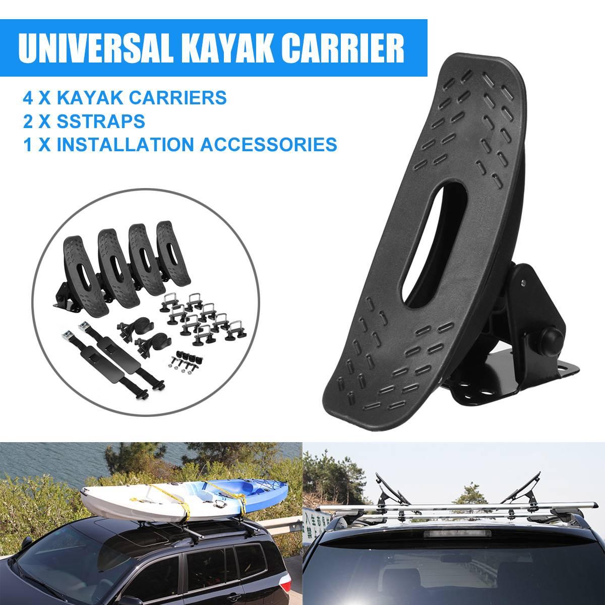 Kayak Canoë Planche De Surf Montage Support de porte Berceau Amovible Kayak Rack Titulaire Kayak Accessoires Toit Rack Bras Canoë De Voiture Chargeur
