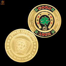 Token Poker-Guard Coin-Pop Coin-For-Collection Souvenir Gift Challenge Metal Green Clover