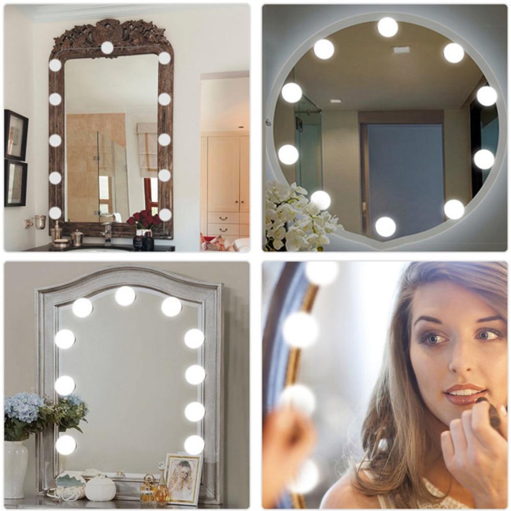 Hollywood LED Vanity Makeup Mirror Lights Kit & Brightness ...