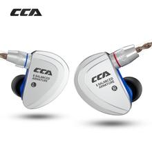 Cca C16 8BAドライブユニットハイファイヤホンヘッドセット取り外し可能なデタッチ2ピン耳イヤホン8バランスアーマチュア