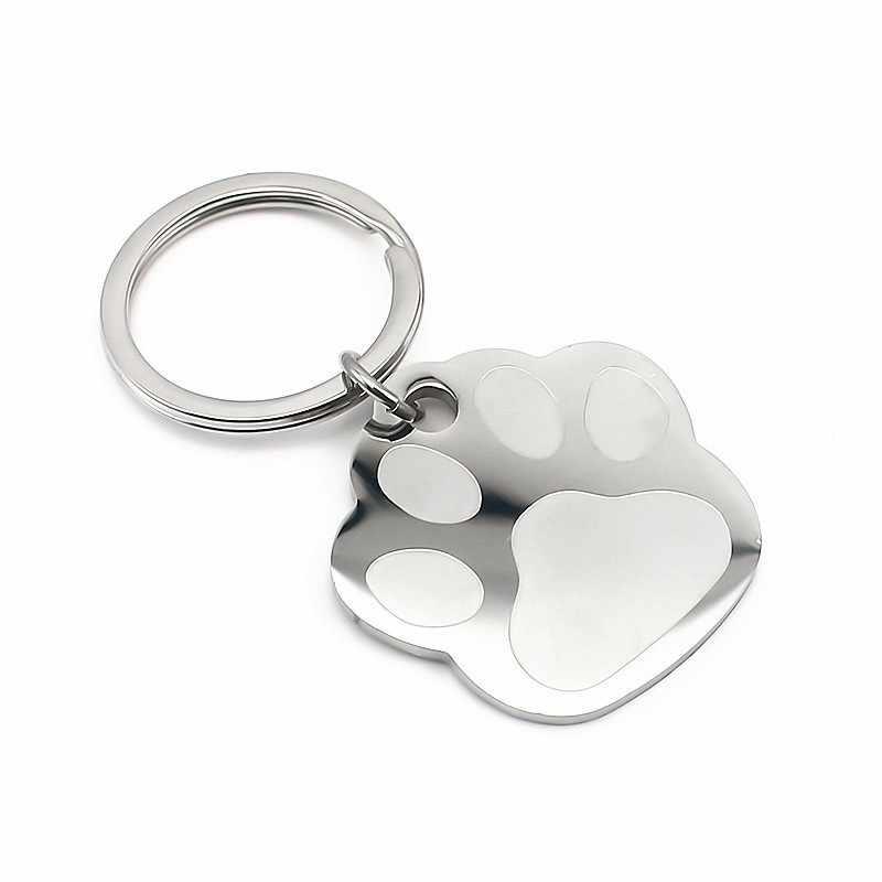 Thép không Gỉ Keyring Tùy Chỉnh Chữ Keychain Khắc Tên Tùy Chỉnh Biểu Tượng Chìa Khóa Xích Vòng Phụ Nữ Người Đàn Ông Quà Tặng