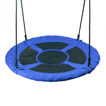 Outdoor 1M 40inch Outdoor Kids Playground Swing Set Saucer Rotate Tree Nest Swing 900D 600lbs Flying Giant Rope Round Swing(China)
