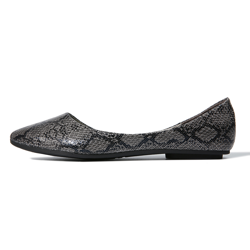 846f1c2cf639b NIS Women Snakeskin Ballet Flats, Pointed Toe Flat Shoes For Ladies, Male  Casual Slip. sku: 32969107900