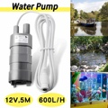 WOLIKE NEW 12V Solar Water Pump Brushless Magnetic Submersible Water Pump 5M 600L/H Garden Fish Pond