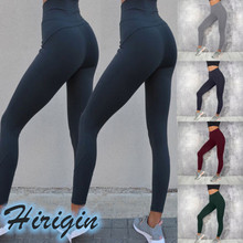 цена на Women Leggings 2019 New Women's Casual Sport Fitness Leggings Solid Stretch High Waist Skinny Leggings