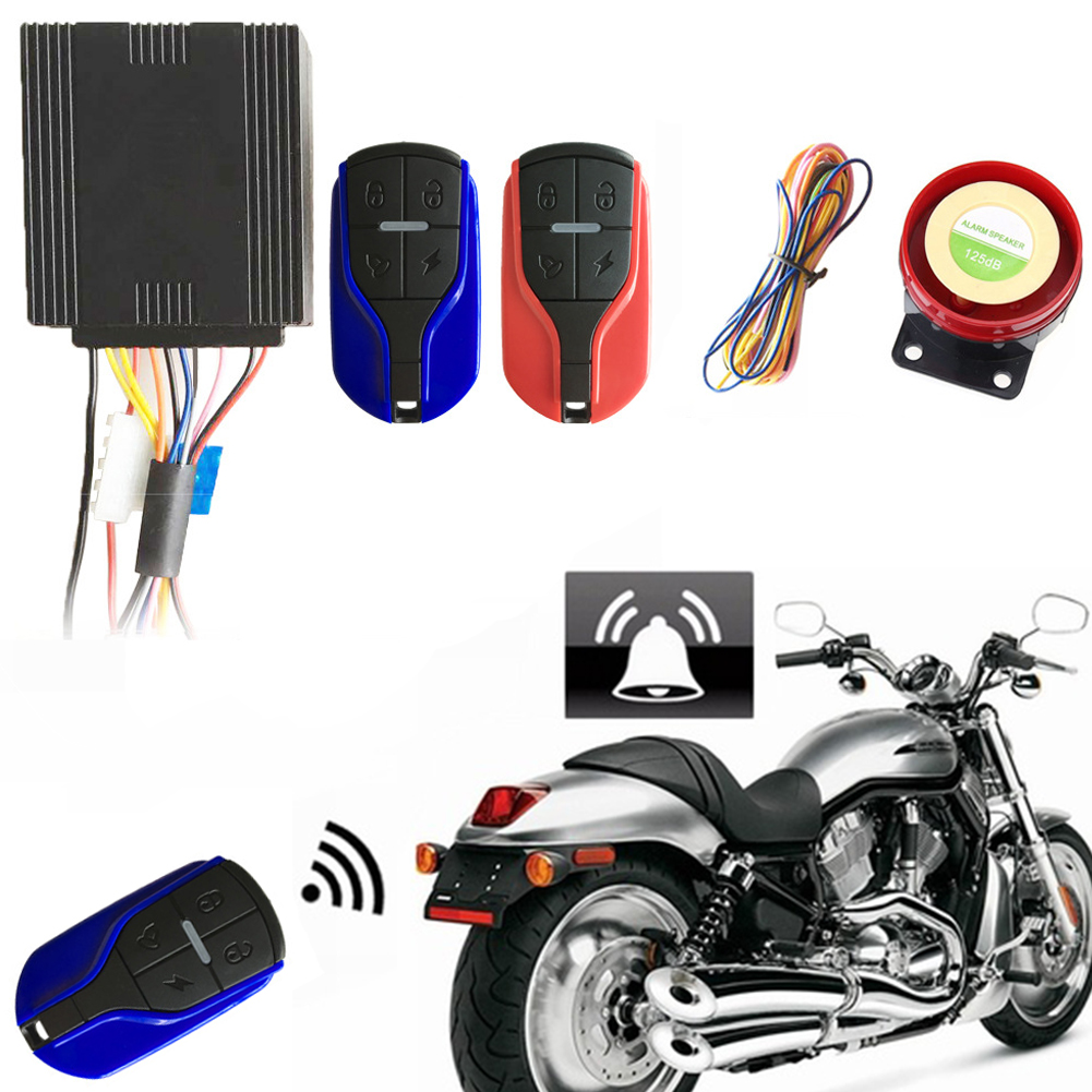 Security With Remote Controller Waterproof For Motorbike Anti-theft Easy Install Alarm System Sensitive One-way Vibration