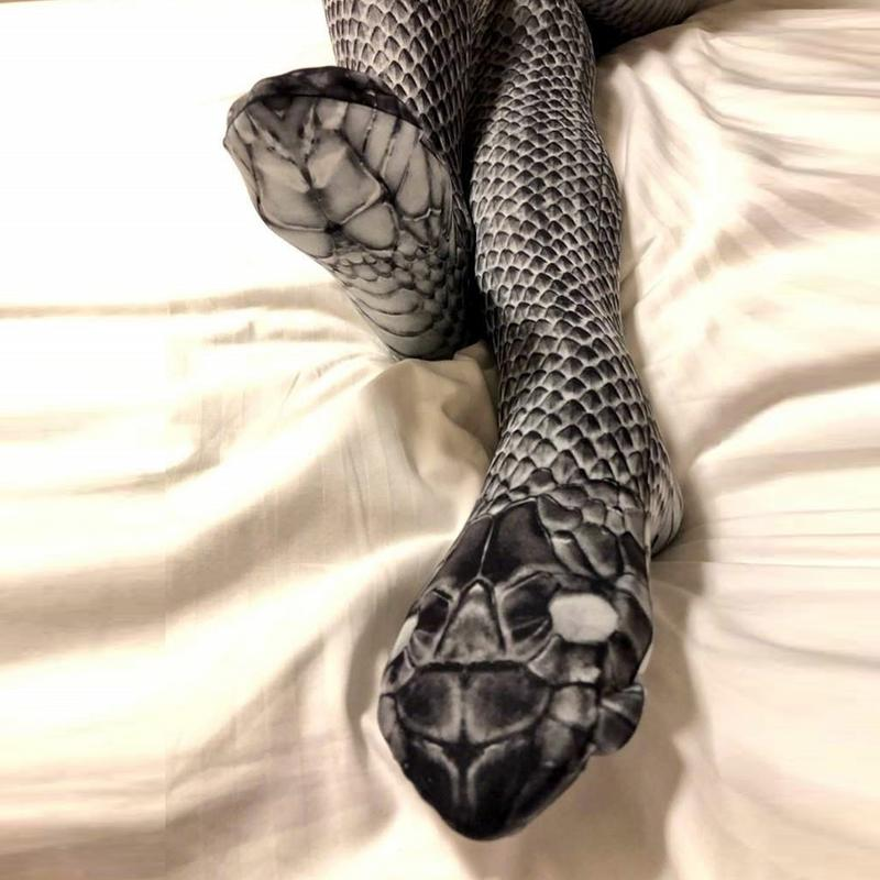 Pantyhose 3D Snake Stockings Women Fashion Leisure Stockings Scary Simulation Snakeskin Print Panty Hose Skinny Funny Tights