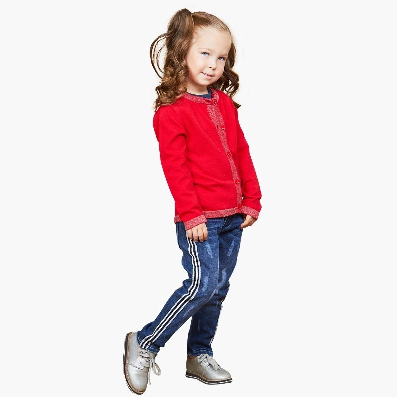 Jeans Sweet Berry Denim pants for girlss children clothing kid clothes bleached ripped pockets denim pants