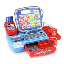 Mini Simulated Supermarket Checkout Counter Role play Cashier Cash Register Set