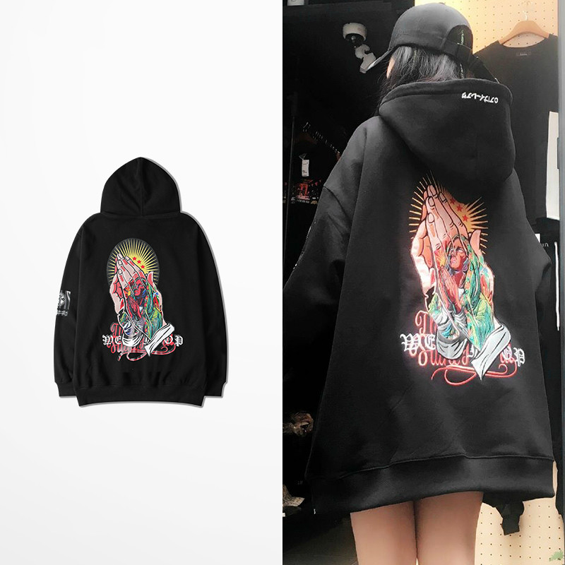 Korean Fashion Autumn Winter Hip Hop Vintage Hoodies Men Skateboard High Street Purpose Tour Sweatshirt Men And Women