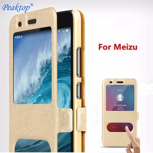 For Meizu M5S M6S M6T M5C M5 M6 M3S M3 M2 Mini Note Leather Flip Book Case On For Meizu M 5 3 6 S T 2 Note A5 Stand Cover Cases(China)