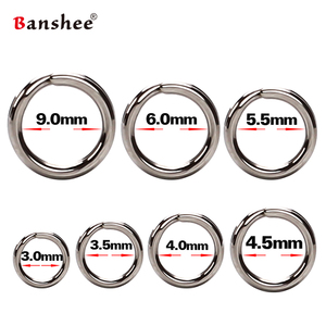 60/100Pcs Fishing Rings Stainless Steel Split Rings High Quality Strengthen Solid Ring Lure Connecting Ring Fishing Accessories(China)