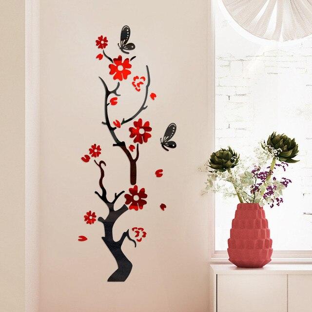 3D Wall Sticker Modern Lotus Non-toxic removable Flower Acrylic Mirror DIY Art Wall Sticker Mural Decal Creative Home Decor 2