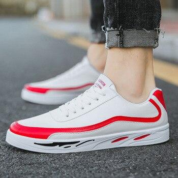 df8dc64580f Fooraabo 2019 zapatos casuales de los hombres zapatos de cuero de moda para  hombres de primavera