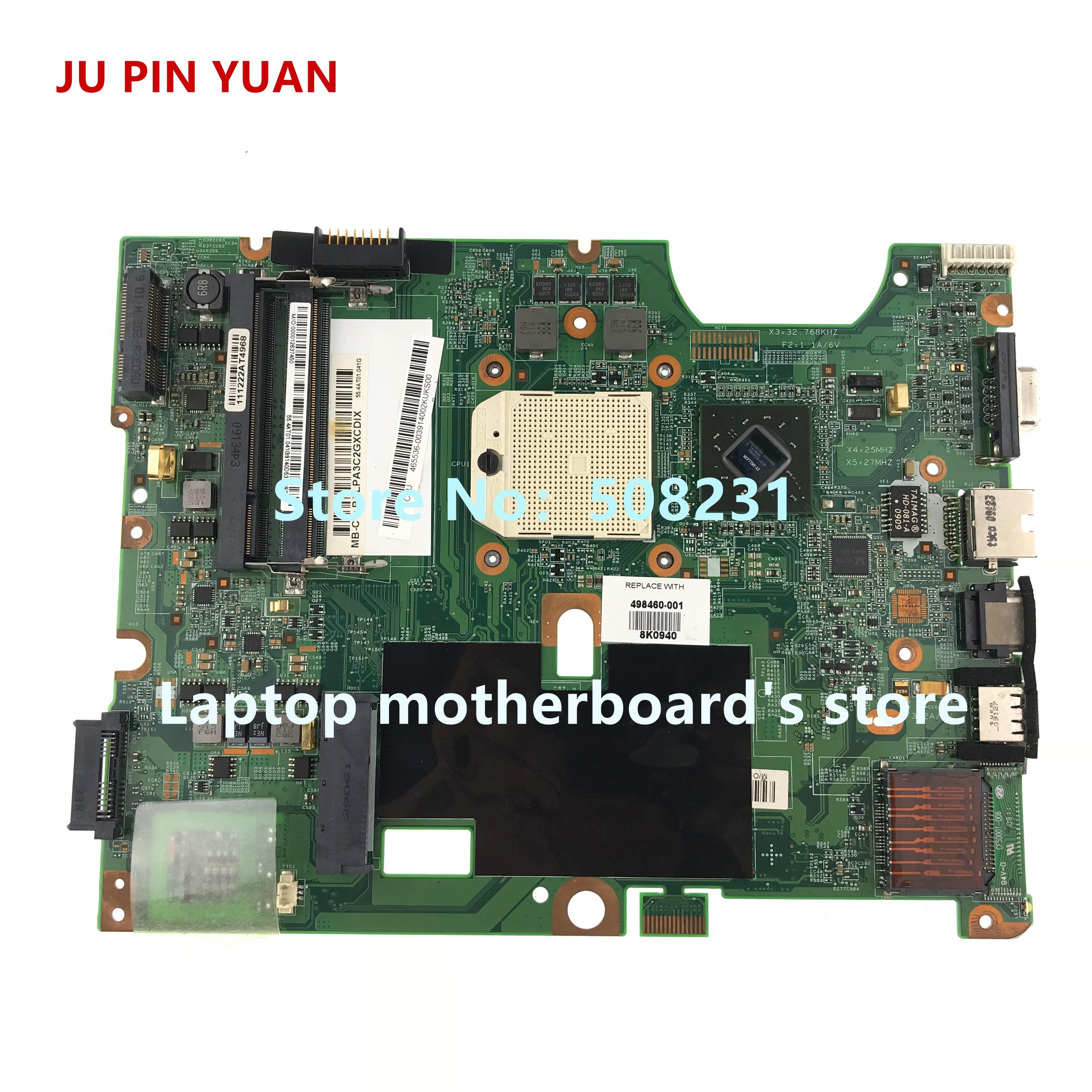 JU PIN YUAN 498460-001 48.4J103.031 Mainboard For HP Compaq CQ50 G50 CQ60 G60 Series Laptop Motherboard Fully Tested