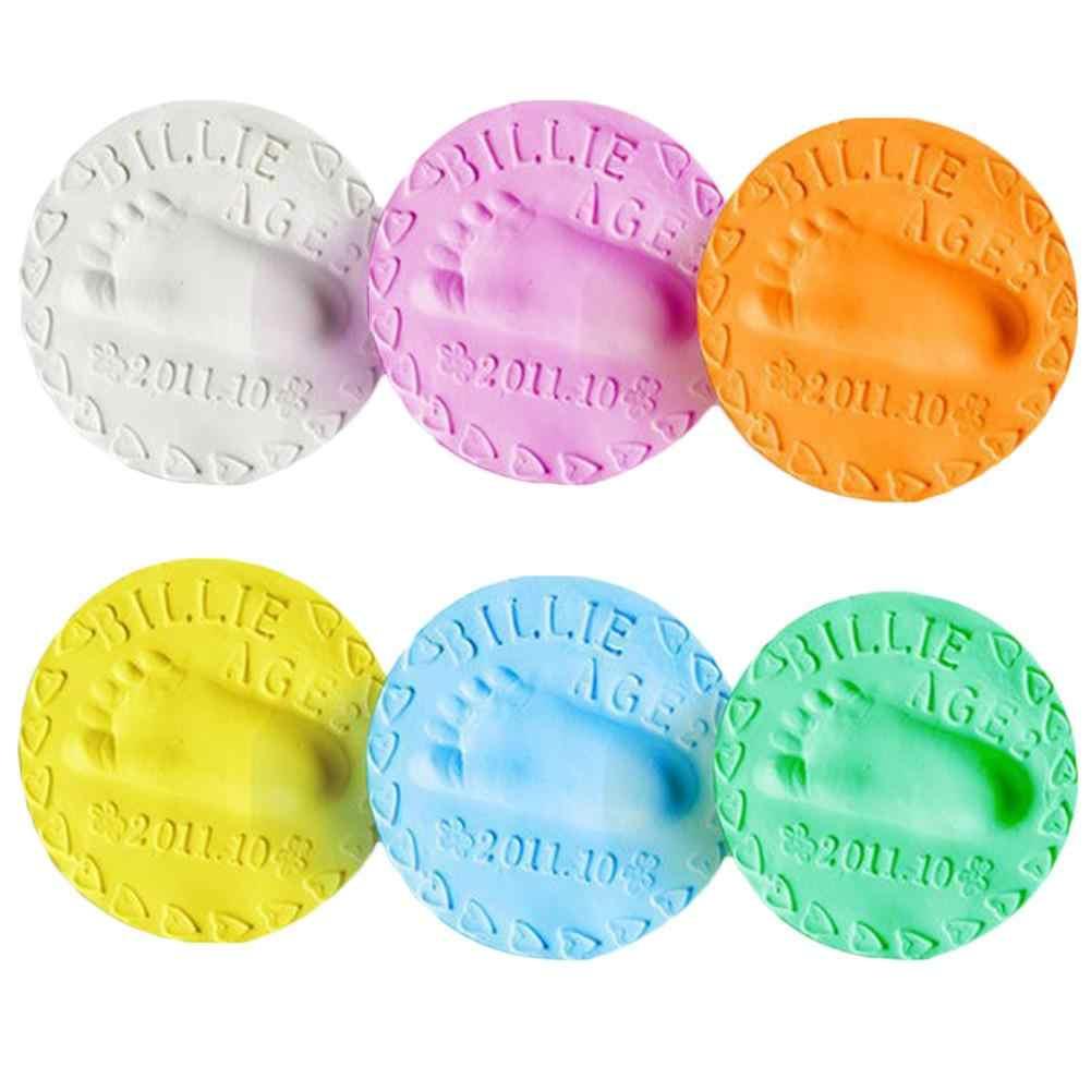 Argile molle à empreintes pour bébé | 1 pièce, Air sec, pour la croissance des nourrissons et des enfants, Souvenir d'empreinte, boue 20g multicolore en option