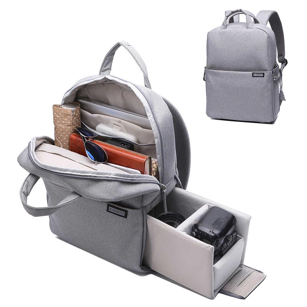 Bolsa de cámara DSLR impermeable Carmera mochila al aire libre resistente al desgaste para Nikon Canon con cubierta de lluvia Casual foto mochila