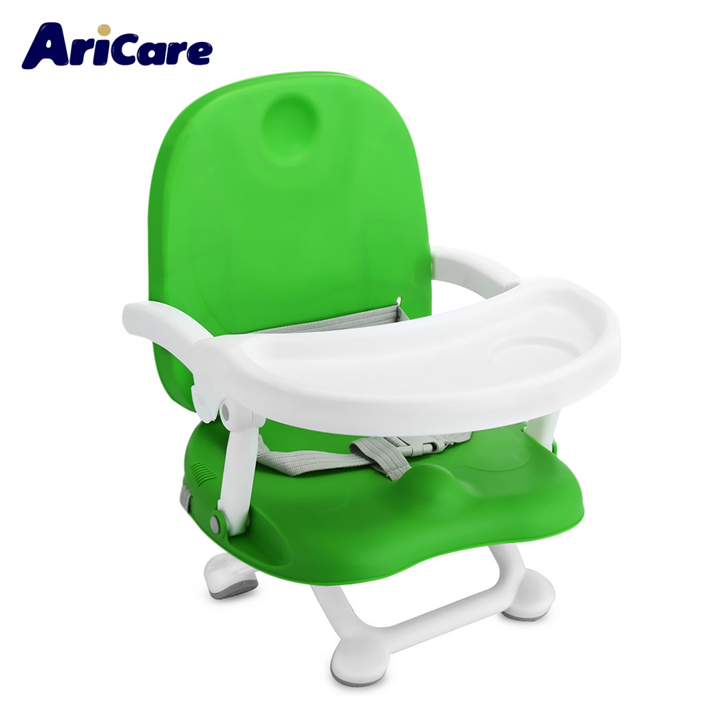 Aricare ACE1013 Baby Booster Seat High Chair Foldable portable Detachable Tray Children Booster Safety infant Chair Feeding Seat