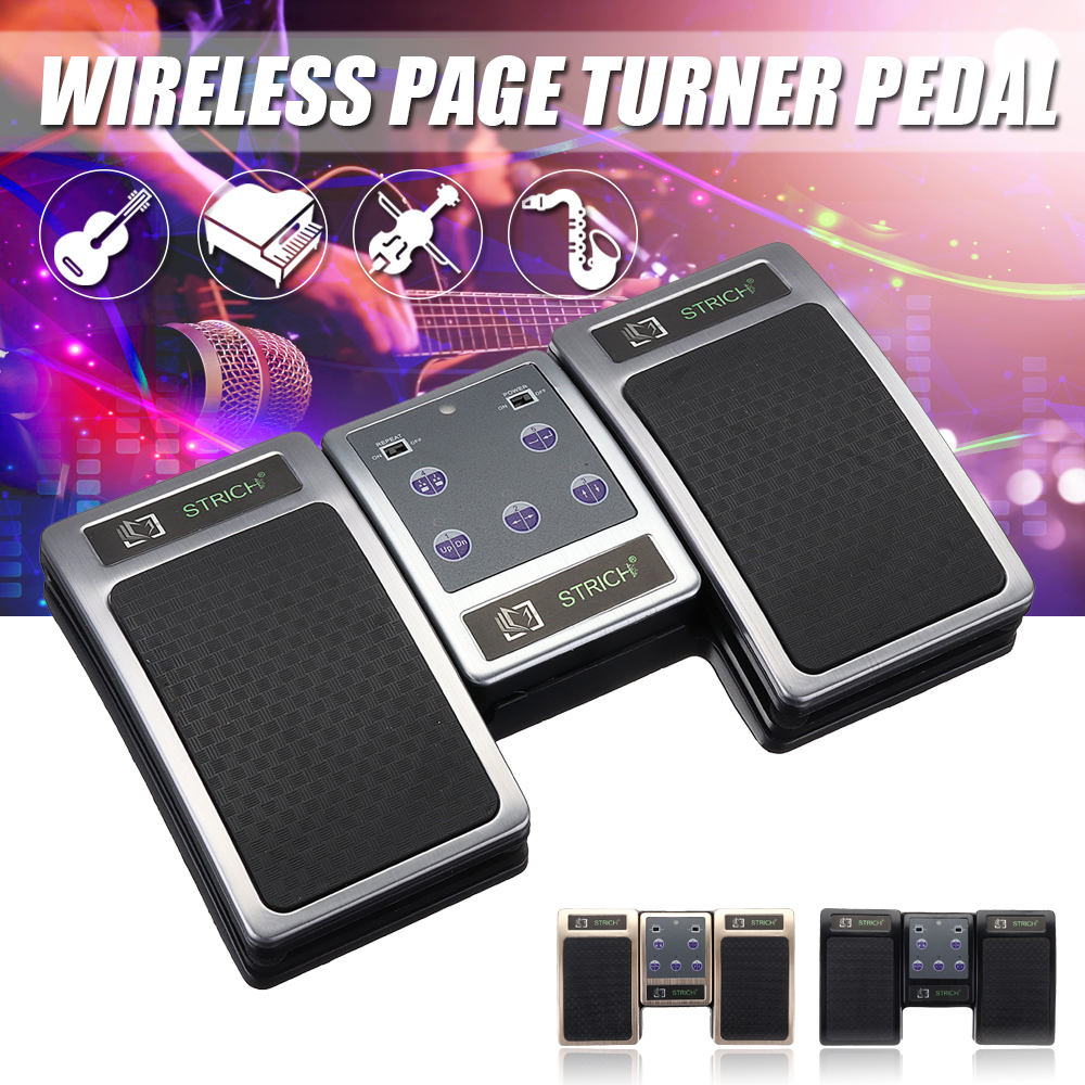 Rechargeable Instrument Playing Aid Pedal Bluetooth Page Turner Pedal Music Wireless Controller For Tablets
