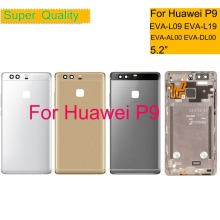 10Pcs/lot 5.2 For Huawei P9 EVA-L09 EVA-L19 EVA-L29 Housing Battery Cover Back Glass Rear Door Chassis Shell Replacement
