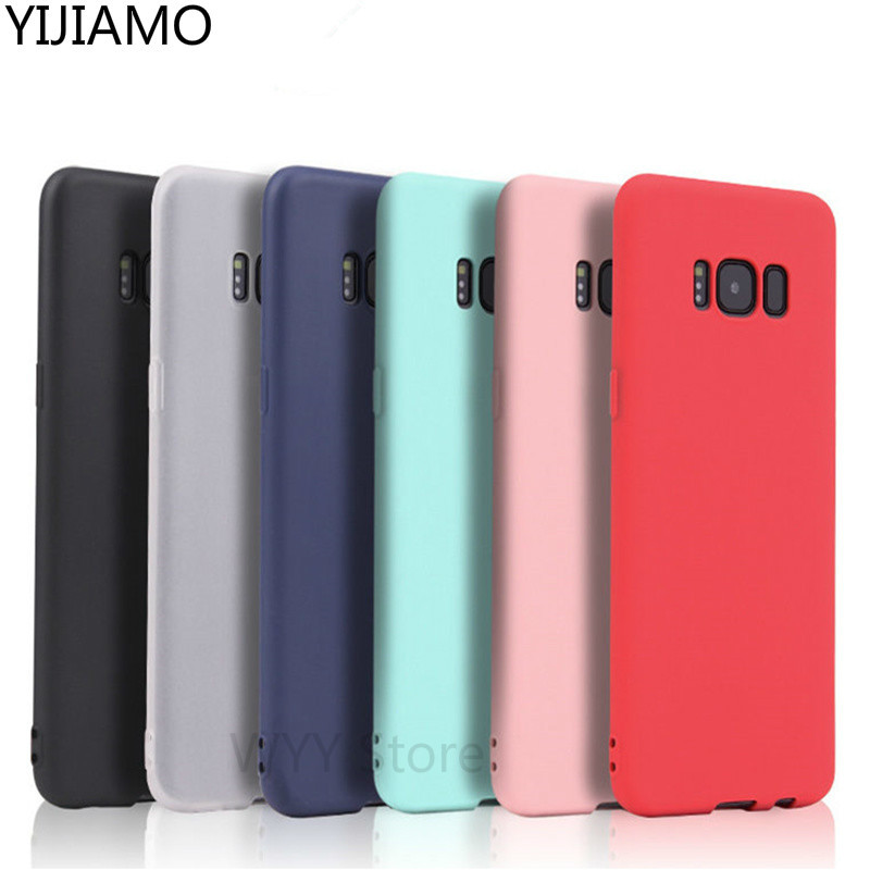 Matte Cases For <font><b>Samsung</b></font> Galaxy A3 A5 A7 J7 J5 J3 2016 <font><b>2017</b></font> J2 J5 J7 prime S6 S7 edge S8 plus Note 8 C5 C9 Pro soft silicone case image