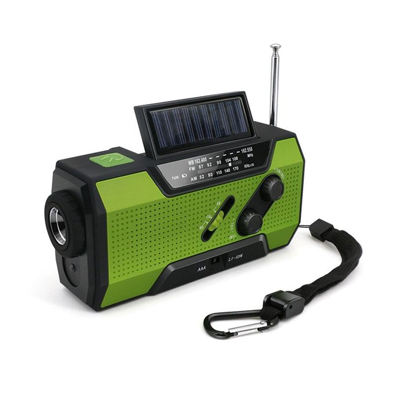 2019 Mode Solar Kurbel Noaa Wetter Radio Für Notfall Mit Am/fm Lesen Lampe Und 2000 Mah Power Bank Weich Und Leicht Taschenlampe