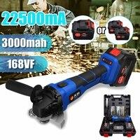 110 В ~ 220 168VF 3000 мАч 22500mA беспроводной электрический шлифовщик полировщик машина со светом для темных работы с 1/2 литиевая батарея