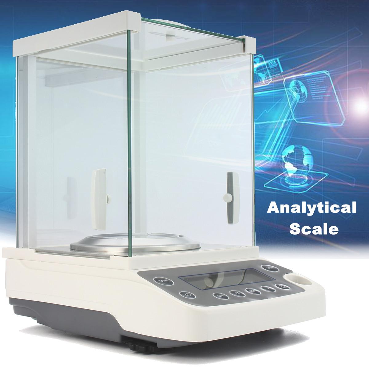 120g/0.0001g Balance analytique LCD de laboratoire Balance de précision numérique 0.1mg Balance analytique de laboratoire de haute précision 100-240V