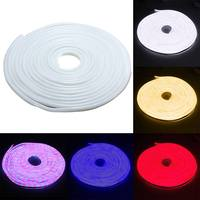 LED Flexible Strip Light AC 110V SMD 2835 LED Neon flex tube 120led IP67 Waterproof rope string lamp + EU Power plug