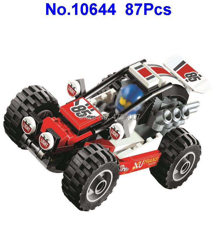 10644 87pcs City Racing Car Sand Buggy Bela Compatible 60145 Building Block Toy Rich In Poetic And Pictorial Splendor Blocks