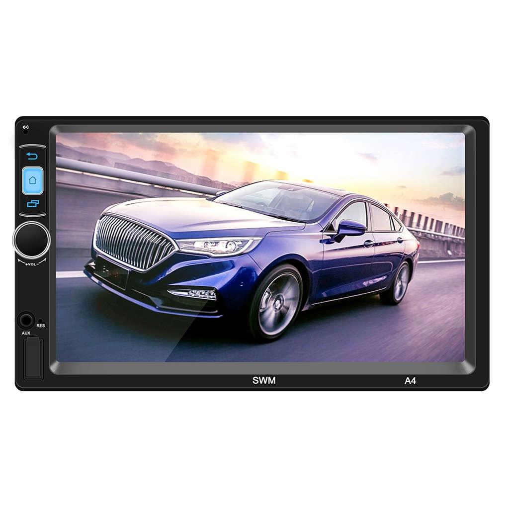 A4 2 Din Android 8.1 lecteur de voiture Mp5 7 pouces presse écran enregistreur de conduite navigateur Gps Navi Fm Radio Wifi Bluetooth 1 Gb + 16 Gb M