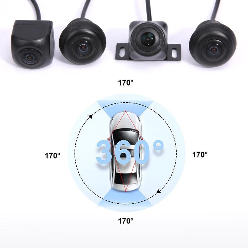 360 Degrés Panorama Système 4 Caméras 720 P Voiture DVR Enregistrement Caméra de Recul BRAS Visuel Parking Surveillance pour HD Parking vue