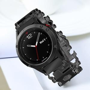 Image 3 - 스테인레스밴드 For Samsung Galaxy Watch 46mm Gear s3 22mm 팔찌에 스테인레스시계줄  금속 시계 계밴드 Garmin Fenix 3 hr 5x 시계 밴드 철강 스크루 드라이버 도구 밴드