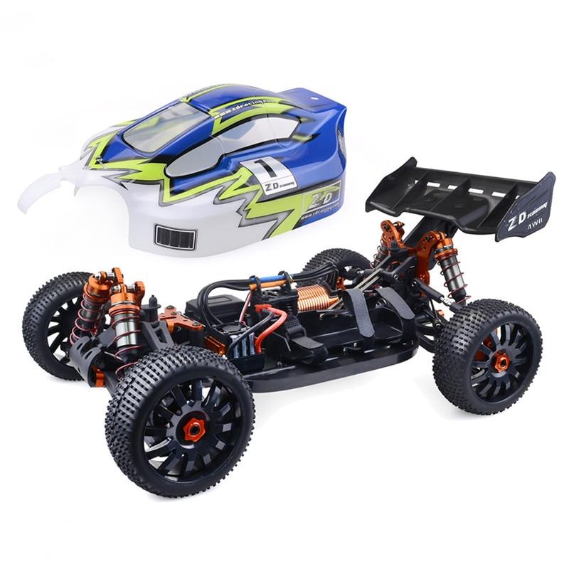 Di alta Qualità ZD Corsa 9020-V3 1/8 4WD 70 km/h Ad Alta Velocità Buggy Auto Telecomando 120A ESC 4274 Motore Brushless fare test di realtà Auto