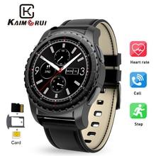 Купить с кэшбэком Kaimorui Smart Watch Support SIM TF Card Bluetooth Call Heart Rate Pedometer Sport Modes Smartwatch Men for Android IOS Phone
