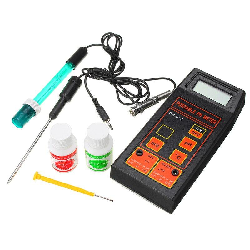Ph-mètre portatif d'appareil de contrôle du mètre 3 en 1 de température d'orp de PH avec la batterie et la poudre de tampon de PH nouveau